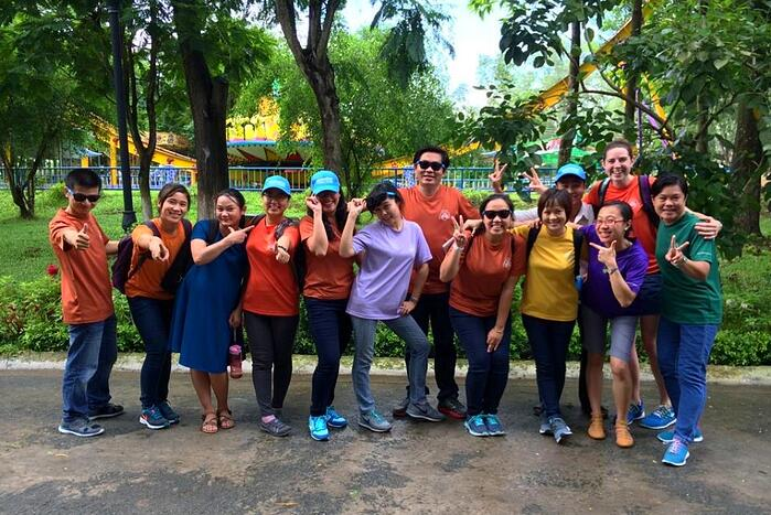 Mary with the Camp Colors of Love team