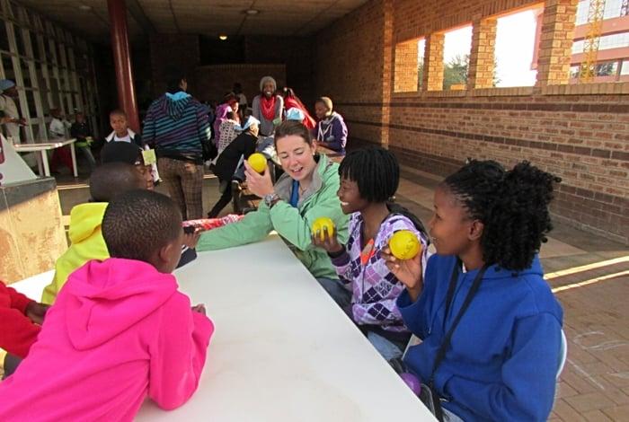 Mary at Camp Hope in Botswana