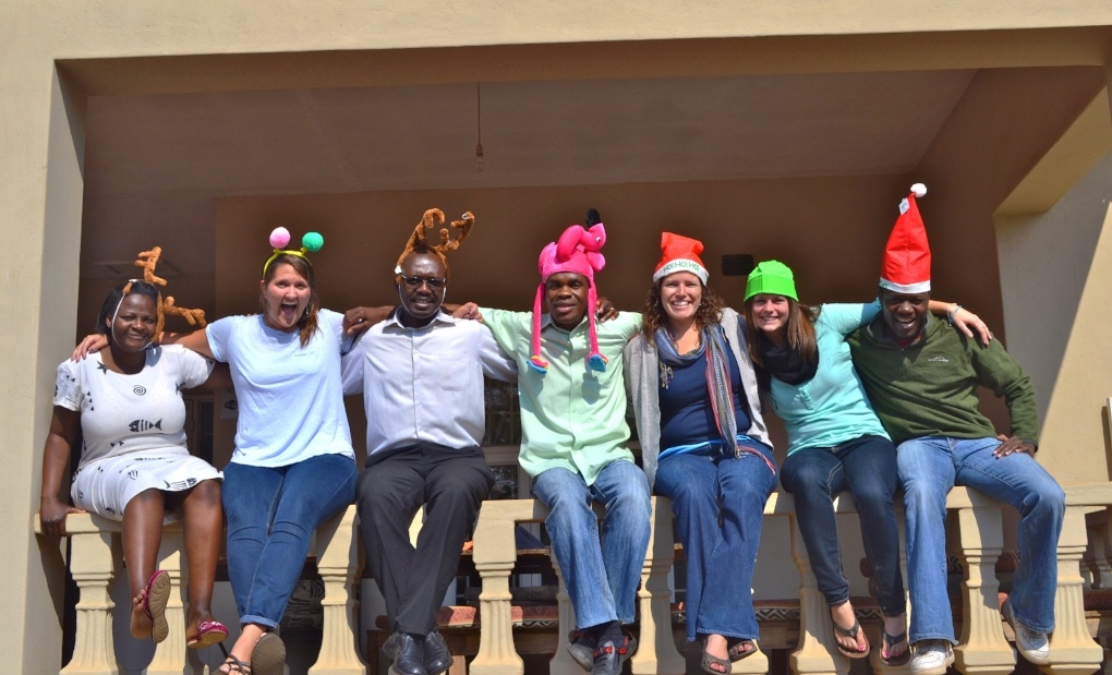Petra with the local leadership team at Camp Hope in Lilongwe, Malawi