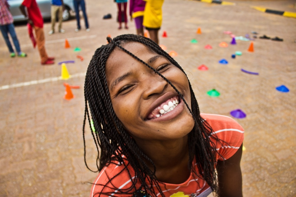 Happy camper at Camp Hope in Gaborone, Botswana